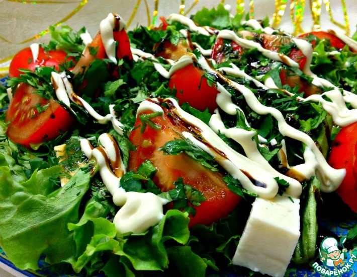 Рецепт: Салат Зеленая поляна
