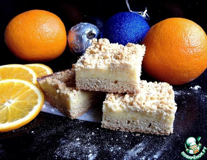 Рецепт: Пирожное с творожной начинкой Праздничное