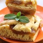 Песочный пирог с яблочным вареньем Нежный