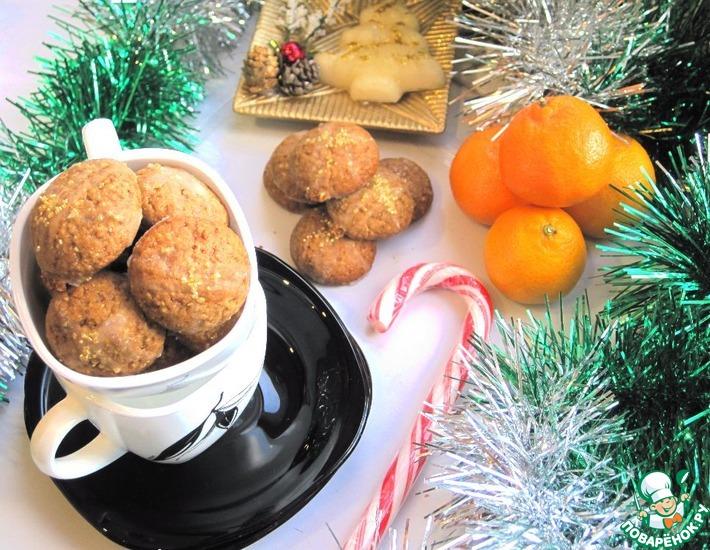 Рецепт: Рождественское печенье Орех и Перец