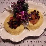 Овощи на картофельной подушке