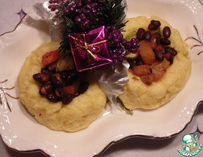 Рецепт: Овощи на картофельной подушке