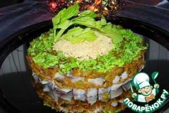 Рецепт: Сельдь с грибами Новогодний каприз
