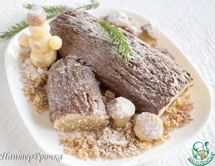Рецепт: Десерт Сказочное полено