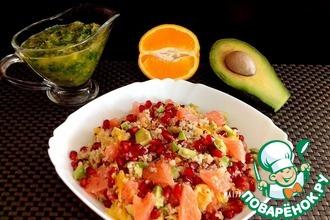 Рецепт: Зимний цитрусовый салат с киноа