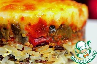 Рецепт: Мусака из баклажанов с рисом