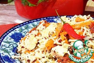 Рецепт: Пряная курица с морковью в мультиварке