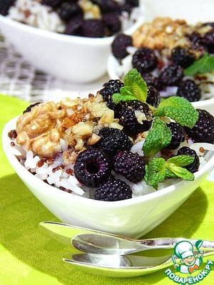 Каша-десерт из смеси риса и киноа – кулинарный рецепт