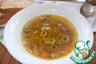Рецепт: Суп с рисом и копченостями