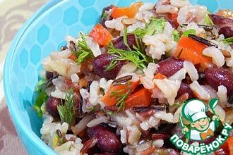 Рецепт: Салат с рисом и фасолью
