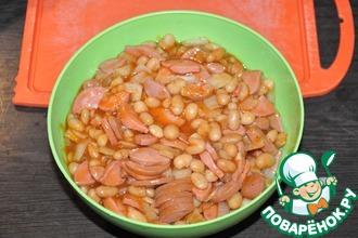 Рецепт: Сосиски с фасолью