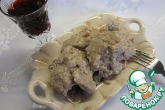 Рецепт: Курица в ореховом соусе
