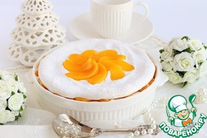 Рецепт Слоеная меренга с персиками