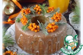 Рецепт: Праздничный тыквенно-облепиховый кекс