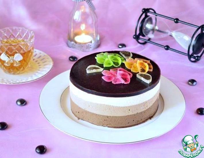 Рецепт: Торт Три шоколада
