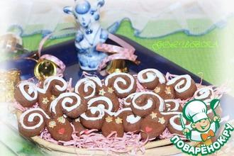 Рецепт: Печенье Шоколадные барашки