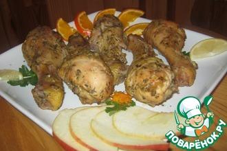 Рецепт: Ромовые куриные ножки с ароматом трав