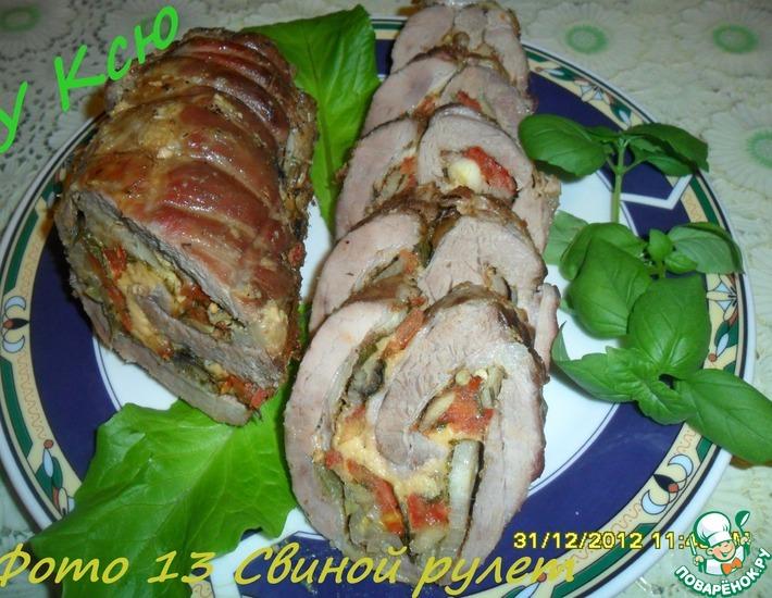 Рецепт: Свиной рулет