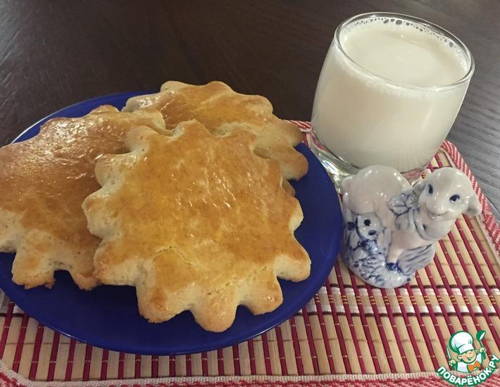 Рецепт: Молочные коржики Родом из детства