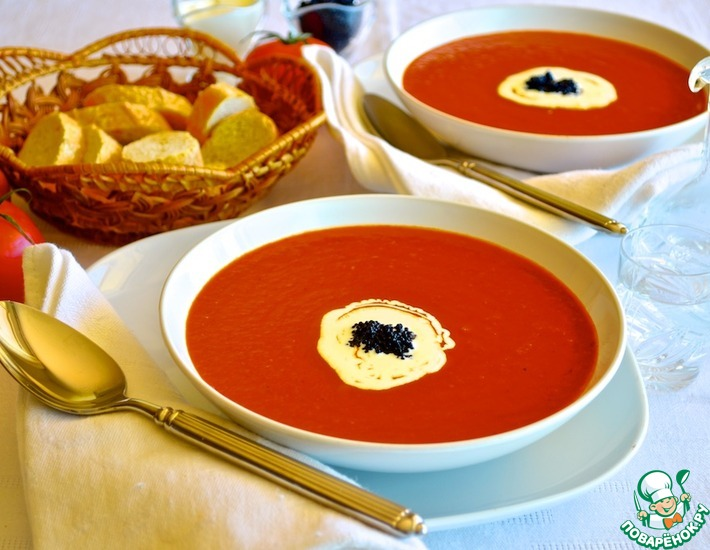 """Рецепт: Томатный суп """"Кровавая Мэри"""""""