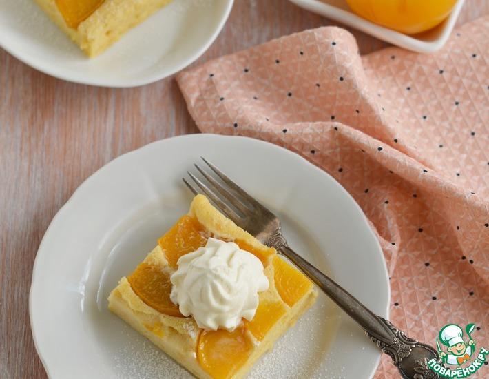 Рецепт: Пирог йогуртовый с персиками
