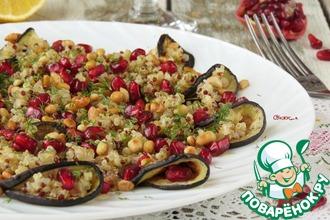 Рецепт: Салат из киноа с баклажанами
