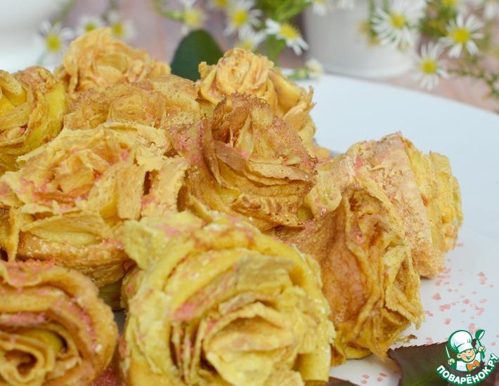 Рецепт: Блинные розы