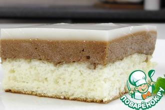 Рецепт: Бисквитное слоеное пирожное