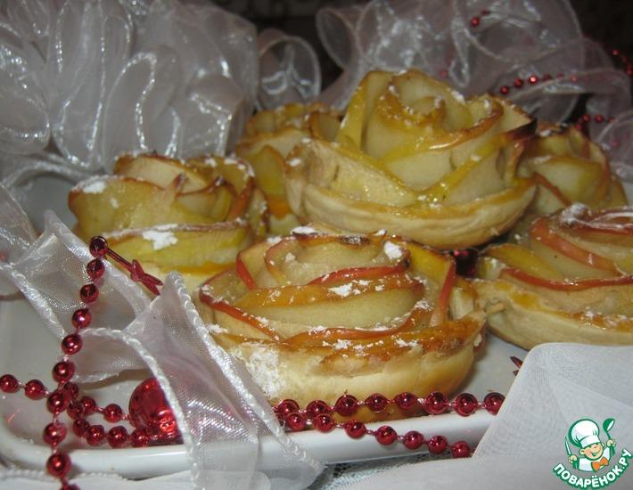 Рецепт: Десерт Зимняя роза