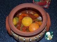 Запечённые яйца в горшочках ингредиенты