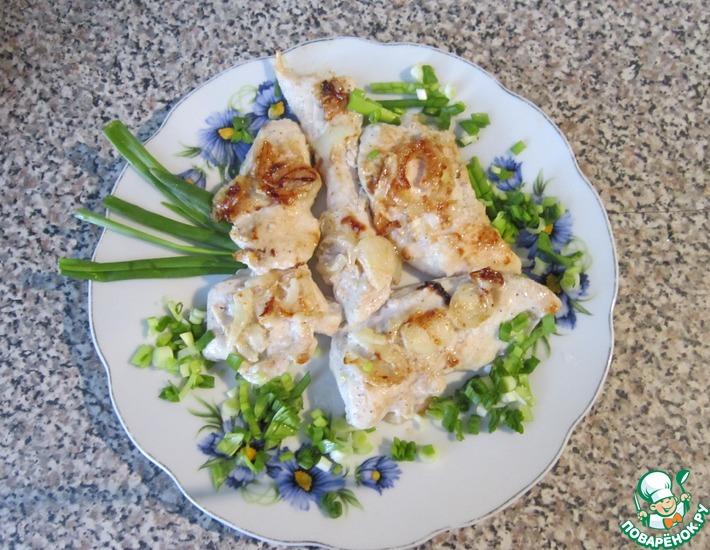 Рецепт: Диетическая куриная грудка в кефире