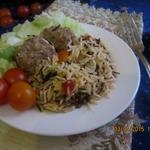 Рагу с рисом и фрикадельками по-восточному