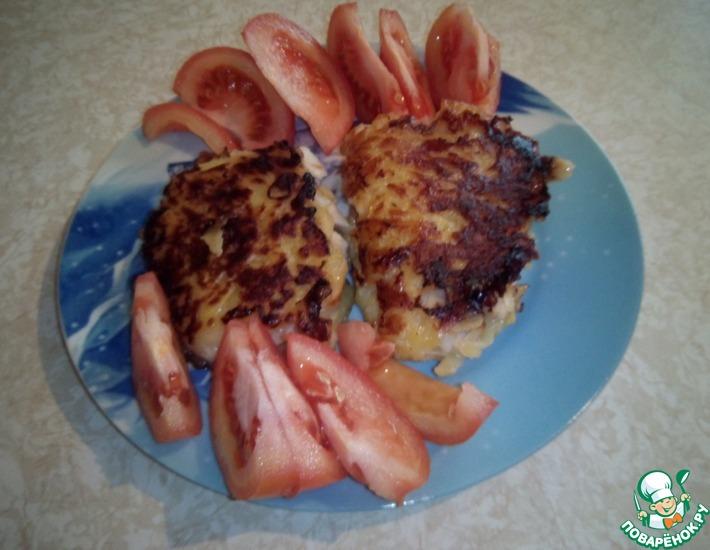Рецепт: Рыбное филе в картофельной шубе