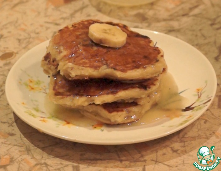 Рецепт: Творожно-банановые панкейки