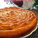 Пирог Спираль с малиновым джемом