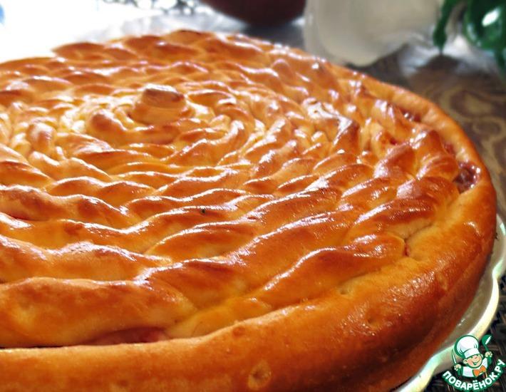 Рецепт: Пирог Спираль с малиновым джемом