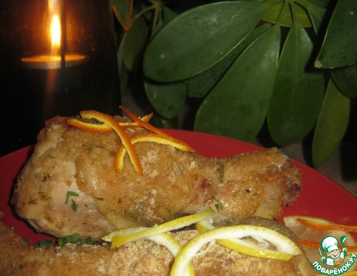 Рецепт: Запечённые куриные ножки Для романтического ужина