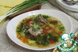 Рецепт: Овощной суп со свининой