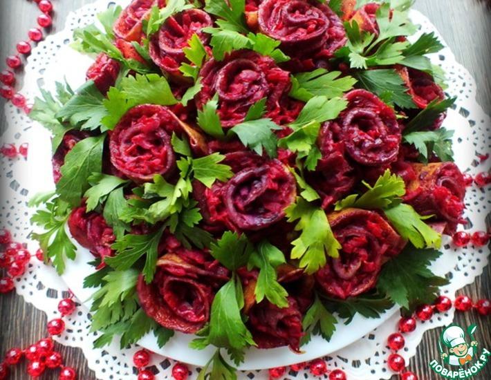 Рецепт: Салат Букет роз