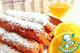 Рецепт: Рисовые палочки с апельсиново-медовым соусом