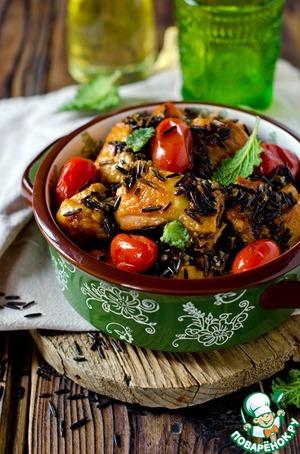 Рецепт Курица с диким рисом и томатами черри