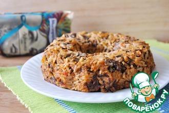 Рецепт: Тимбалло из риса с куриными сердечками