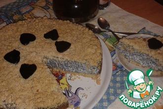 Рецепт: Пирог Творожно-маковая нежность