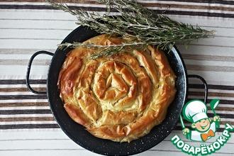 Рецепт: Греческий сырный пирог Улитка