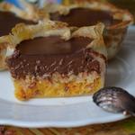 Мандариновые тарталетки с шоколадом