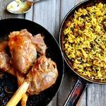Бараньи ноги с рисом соте