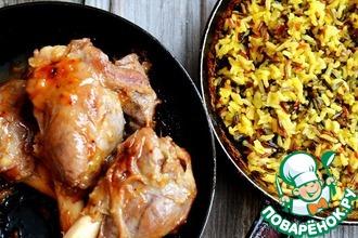 Рецепт: Бараньи ноги с рисом соте