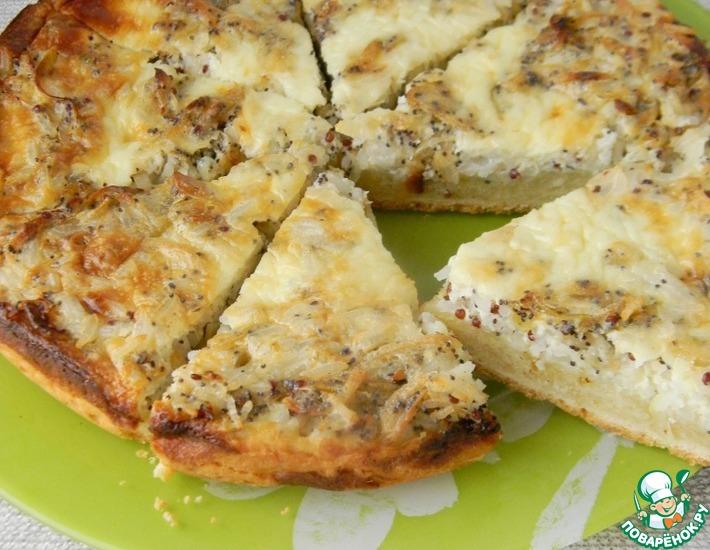 Рецепт: Луковый пирог с рисом и киноа