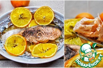 Рецепт: Лосось с апельсинами и фенхелем
