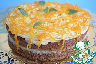 Рецепт: Апельсиново-маковый торт